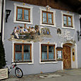 A typical painted house in Mittenwald