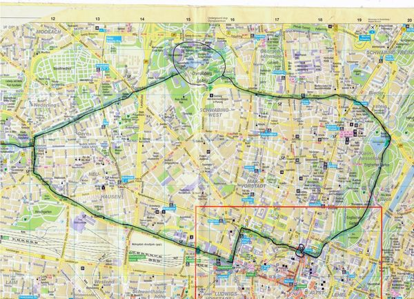 MUNCHEN bike map A