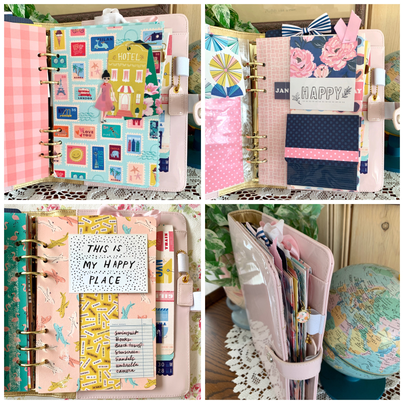 Let's Travel A5 Scrapbook pages