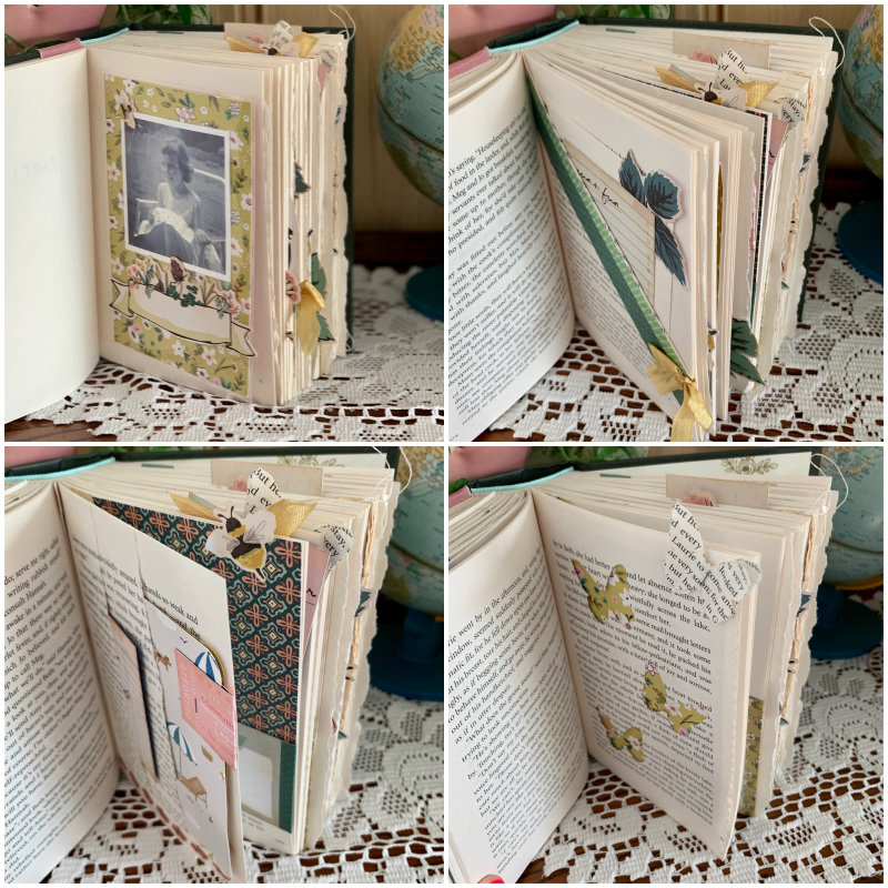 Little Women Altered Book pages 2