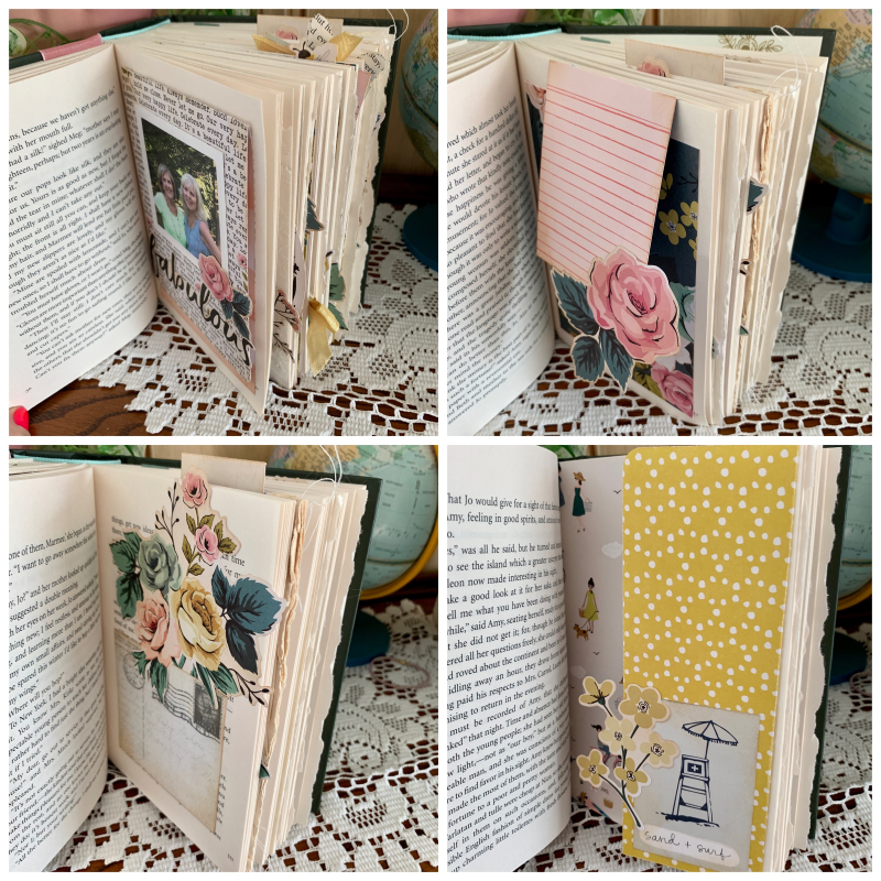 Little Women Altered book pages