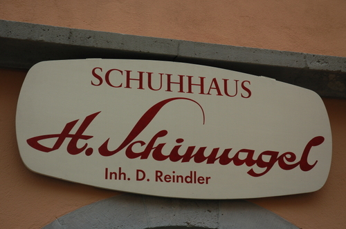 A Schuh house (shoe store)