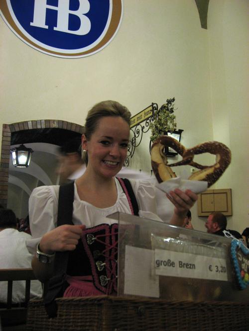 Pretzels at Hofbrauhaus